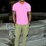 Black man in pink