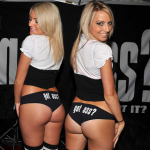 Two blondes sporting buns