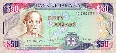 50 Jamaican dollars